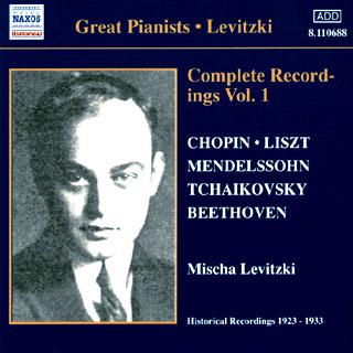 archives Mischa Levitzki   enregistrements 1923-1933 (vol.1)