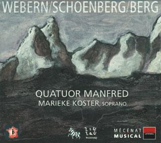 récital Quatuor Manfred | Berg – Schönberg – Webern