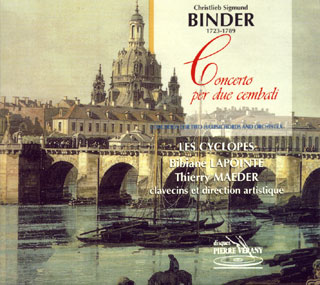 Christlieb Sigmund Binder | concerti pour deux clavecins