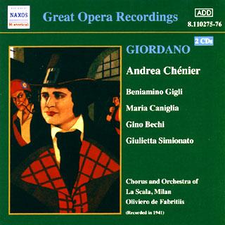 Umberto Giordano | Andrea Chénier