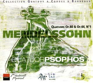 Felix Mendelssohn | Quatuors Op.44 n°1 – Op.80
