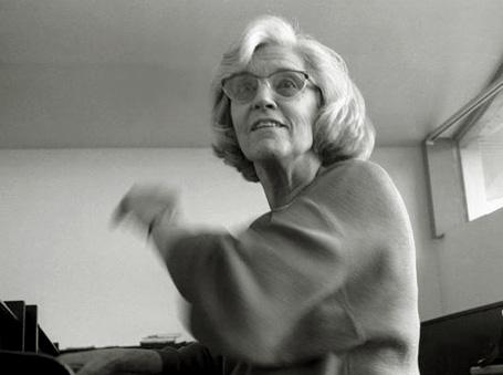 portrait de la compositrice Betsy Jolas par le photograpge Cyril Bruneau