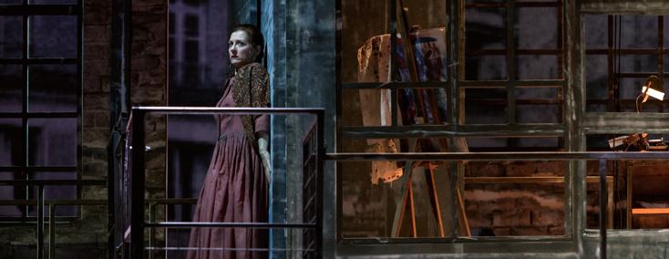 Patrizia Ciofi chante Mimi dans La bohème (Puccini) à l'Opéra royal de Wallonie