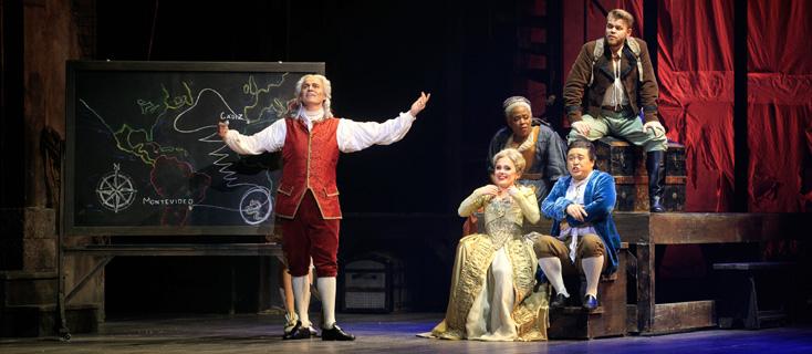 dans la mise en scène de Francesca Zambello, Candide de Bernstein, à Toulouse