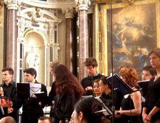 concert baroque au Prytanée de La Flèche, photographié par Bertrand Bolognesi