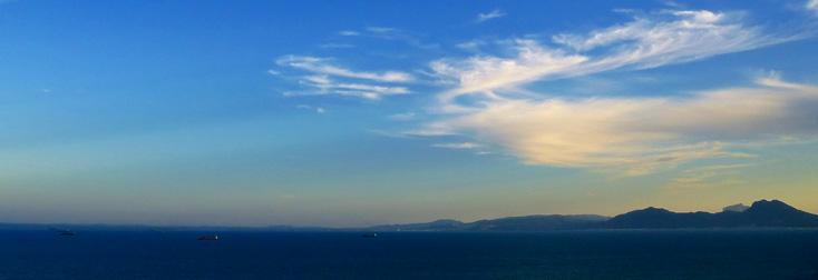 la baie de Tunis et les monts de l'Atlas : Octobre musical de Carthage !