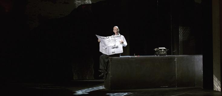 à Genève, Figaro gets a divorce, opéra d'Elena Langer