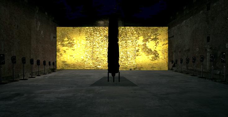 ŠamaŠ, installation de Zad Moultaka, Pavillon du Liban de la Biennale de Venise