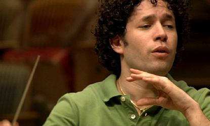 le jeune chef vénézuélien (24 ans) dirige l'UBS Verbier Festival Orchestra