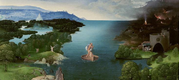 Le passage du Styx, toile de Panitir (XVIe siècle), a inspiré Hugues Dufourt