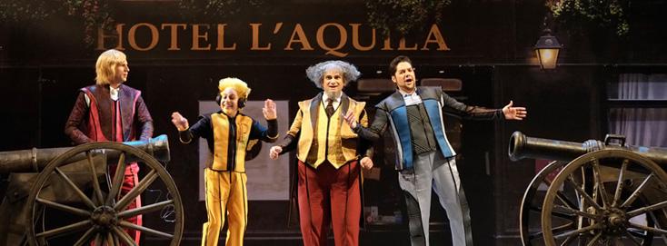 La gazzetta (1816), un opéra bouffe de Rossini, donné à Liège en juin 2014