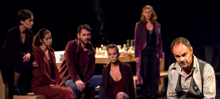 Lionel Peintre dans Giordano Bruno (2015), opéra de Francesco Filidei
