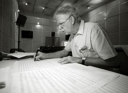 le compositeur britannique Jonathan Harvey photographié par Florian Kleinefenn
