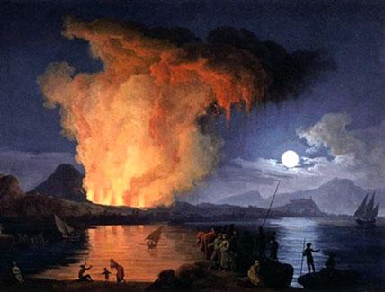 Éruption du Vésuve, par Pierre-Jacques Volaire – Herculanum et Pompei périssent