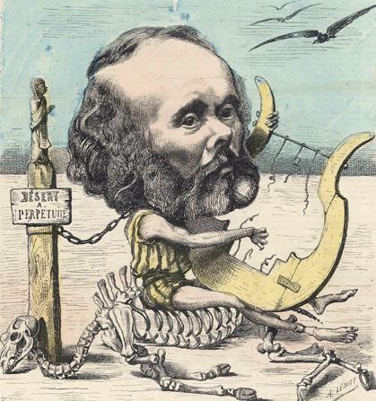 le compositeur Félicien David (1810-1876) caricaturé par Achille Lemot
