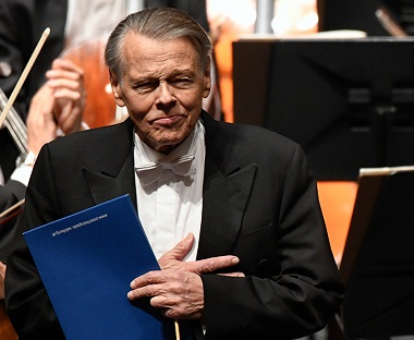 remise du Prix Herbert von Karajan au chef letton Mariss Jansons
