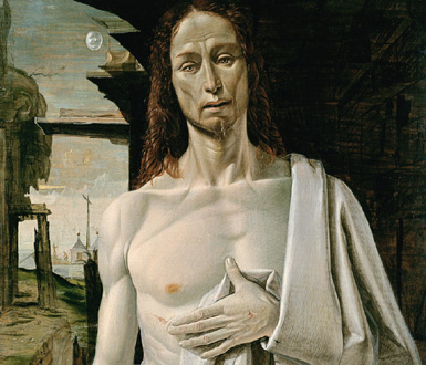 Il Cristo dolente (1487) de Bartolomeo Bramantino, photo de Bertrand Bolognesi