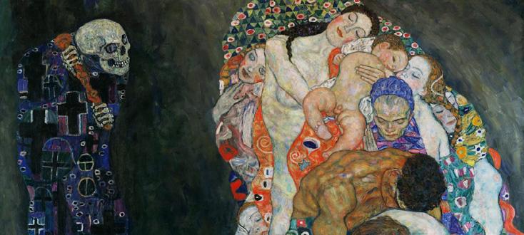 Vie et mort, tableau de Gustav Klimt, peint en 1911