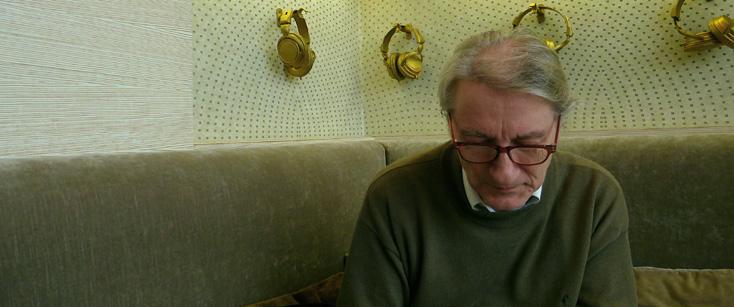 le compositeur Jacques Lenot, photographié par Bertrand Bolognesi à Monte-Carlo