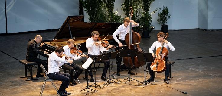 Le Quatuor Modigliani et Nelson Goerne, en concert à La Roque d'Anthéron