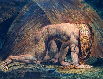 Nabuchodonossor, sujet d'un oratorio de Falvetti (gravure de William Blake)