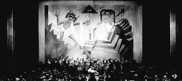 1952, Oedipus Rex de et par Stravinsky, photographié par Boris Lipnitzki