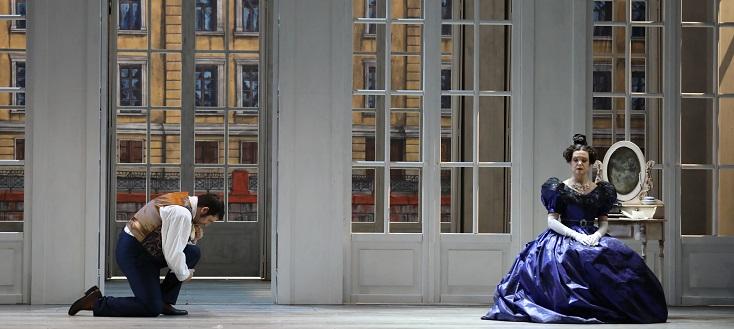 """le très beau décors de Benoît Dugardyn pour """"Eugène Onéguine"""" à Metz"""