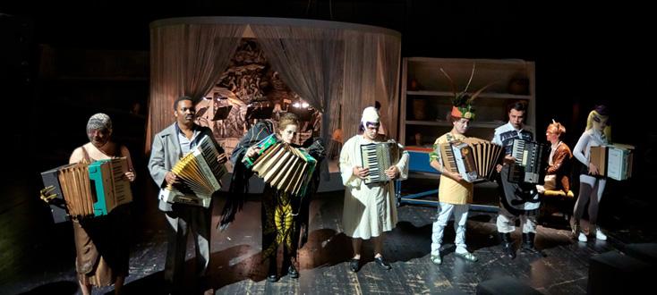 Volker Krafft  joue Orpheus, opéra de Telemann