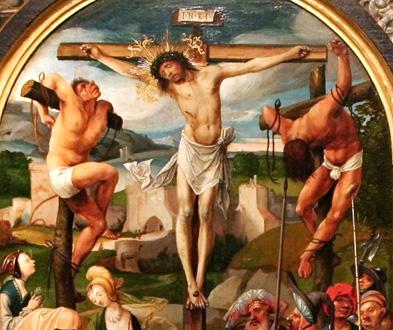 Crucifixion de Cornelis Engebrechtsz, au Palais Sternberg de Prague