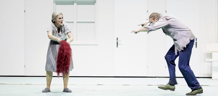 Bo Skovhus et Maria Bengtsson dans Peer Gynt de Werner Egk à Vienne, 2017