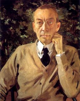 le compositeur russe Rachmaninov peint par Konstantin Somov en 1925