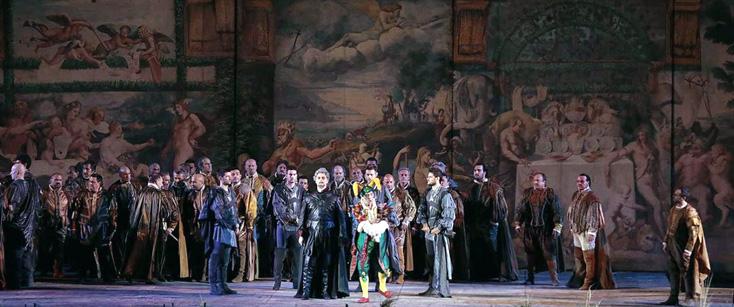 Superbe Rigoletto d'Ivo Guerra d'après Ettore Fagiuoli aux arènes de Vérone !