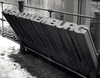 le mémorail Rosa Luxemburg à Berlin