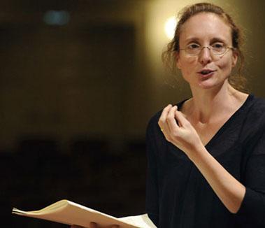 la compositrice écossaise Rebecca Saunders, jouée par l'ensemble Linea