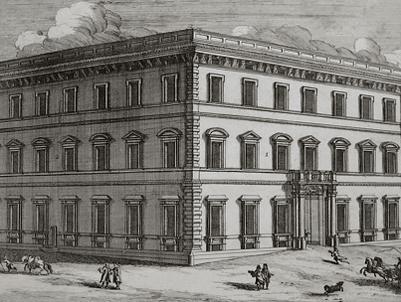 façade du Palazzo Bonelli (1690) où fut créée la Passione de Scarlatti en 1708