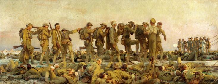 Arras, 1919 : le peintre étatsunien John Singer Sargent peint les asphyxiés