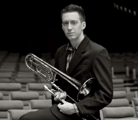 Nicolas Moutier, jeune vice-président de l'Association des trombonistes français