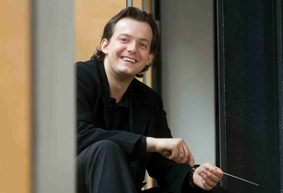 Andris Nelsons, jeune chef letton, dirige l'Orchestre de Paris