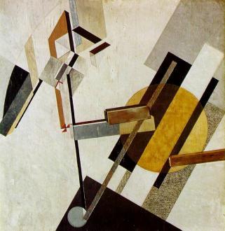 Composition abstraite du peintre russe Lazar Lissitzky, 1922