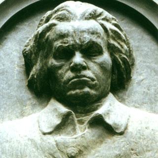 """Beethoven, sur la façade de la maison""""à la licorne d'or"""", par Bertrand Bolognesi"""