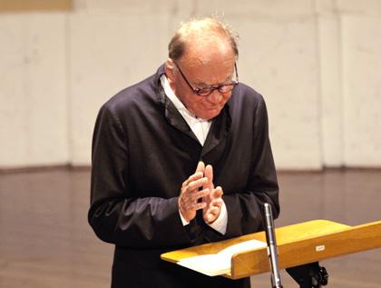 Silvia Lelli photographie l'acteur Bruno Ganz au Festival de Salzbourg