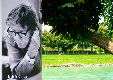 affiche salzbourgeoise John Cage, photo de Bertrand Bolognesi, 2011