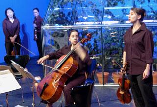 Ritournelles, spectacle de Dietrich Sagert, avec le Quatuor Psophos