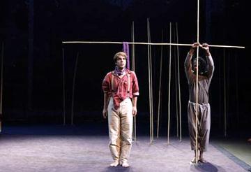 Une flûte enchantée, spectacle de Peter Brook, d'après Mozart et Schikaneder