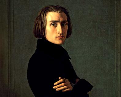 portrait de Liszt par Lehmann