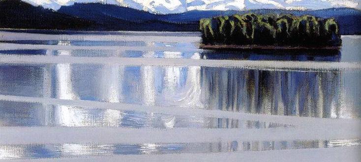 Le Lac Keitele peint en 1905 par Akseli Gallen-Kallela