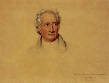 esquisse pour un portrait de Goethe par Joseph Karl Stieler