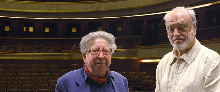 Henri Dutilleux et Kurt Masur au Théâtre des Champs-Élysées (Paris) en 2004