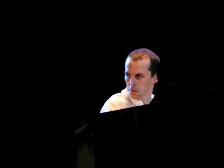 rencontre du pianiste Julien Quentin et du musicologue Bertrand Bolognesi