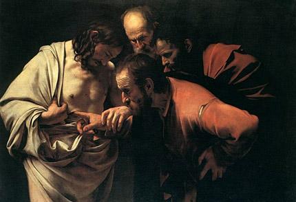 Conservé à la Bildergalerie de Potsdam : L'incredulità di tommaso de Caravaggio